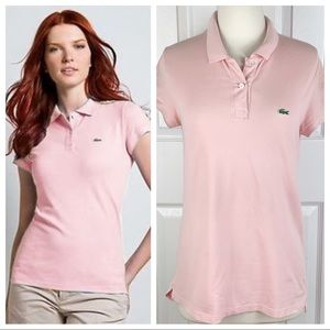 LACOSTE 8 Classic Polo Shirt - Flamingo Pink